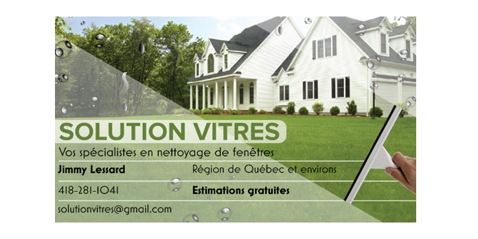 SOLUTION VITRES